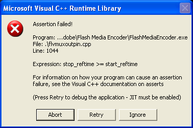 FME Runtime Library Error